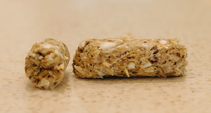 close up of guinea pig pellet product
